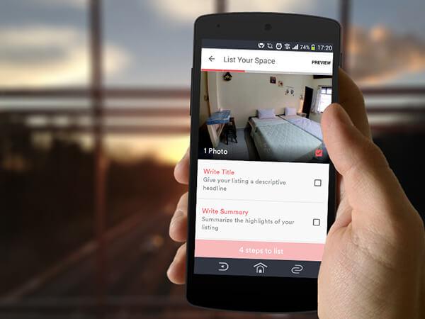 การลงประกาศที่พักด้วยแอพ Airbnb บน Android