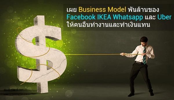 เผย Business Model พันล้านของ Facebook, IKEA, Whatsapp และ Uber ให้คนอื่นทำงานและทำเงินแทน